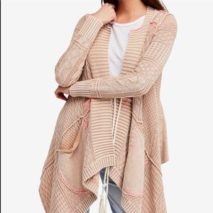 Free People All Washed Out cascading cardigan